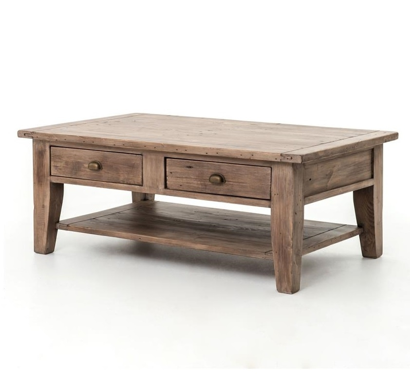 Great Popular Rustic Coffee Table Drawers In Living Room The Cool Coffee Table With Drawers Extraordinary (View 3 of 50)