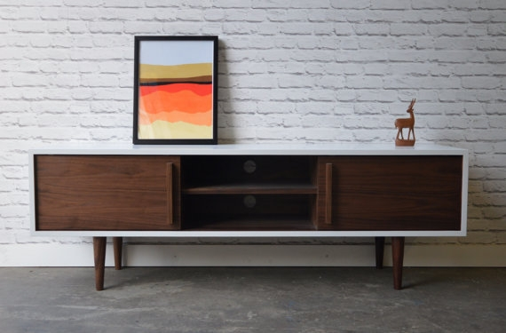 Great Popular Scandinavian TV Stands Inside Kasse Tv Stand In White Walnut Combo (Image 20 of 50)