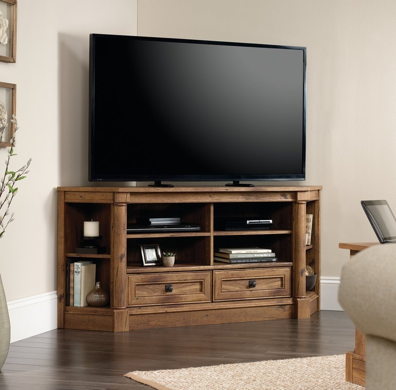 Great Popular Silver Corner TV Stands Intended For Shop 149 Corner Tv Stands (View 13 of 50)
