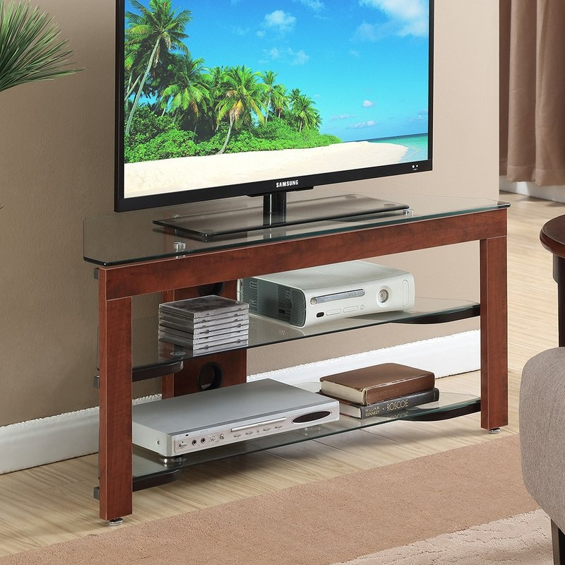 Great Popular Techlink Air TV Stands Within Glass Shelf Tv Stands Youll Love Wayfair (Image 24 of 50)