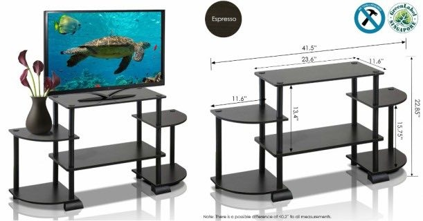 Great Popular TV Stands Rounded Corners With Regard To Furinno Rounded Corner Tv Stand Only 722 At Walmart (Image 24 of 50)