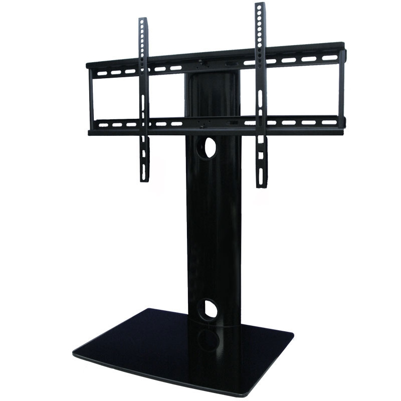 Great Popular Wall Mounted TV Stands With Shelves Pertaining To Universal Tabletop Tv Stand With Swivel And Height Adjustable Tv (Image 30 of 50)