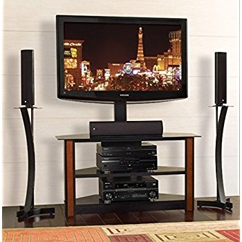 Great Preferred Bell'O Triple Play TV Stands With Amazon Bello Tpc2127 Triple Play Fits Upto 55 Inch Tv Black (View 17 of 50)