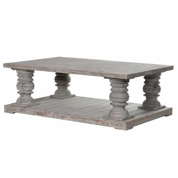 Great Preferred Chunky Wood Coffee Tables With Style Distressed Chunky Wooden Coffee Table (Image 23 of 50)