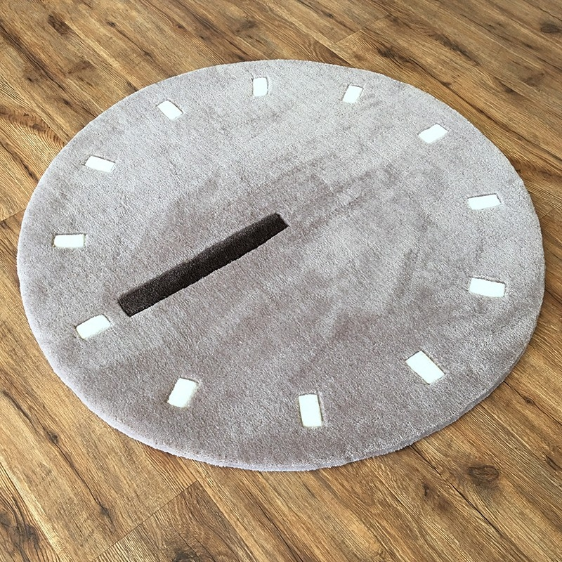 Great Preferred Clock Coffee Tables Round Shaped In Round Shaped 90cm Simple Style Clock Dial Pattern Carpet  (Image 25 of 50)