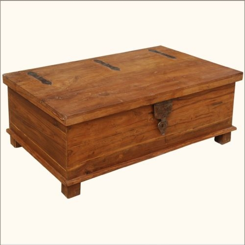 Great Preferred Coffee Tables With Box Storage Pertaining To Coffee Table Rustic Teak Wood Wrought Iron Distressed Coffee (Image 31 of 50)