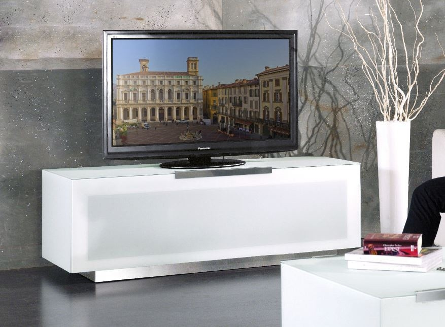 Great Preferred Contemporary White TV Stands Regarding Bio Bergamo Modern White Tv Stand Made In Italy (View 2 of 50)