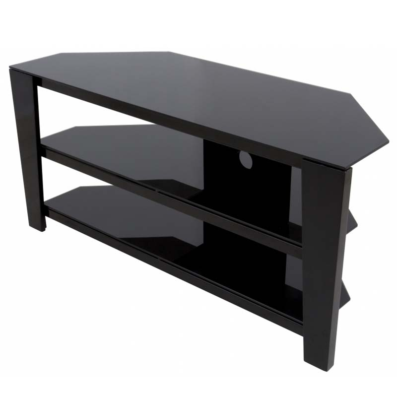 Great Preferred Corner 55 Inch TV Stands Within Avf Vico 55 Inch Corner Tv Stand Glossy Black Fs1050vib A (Image 28 of 50)