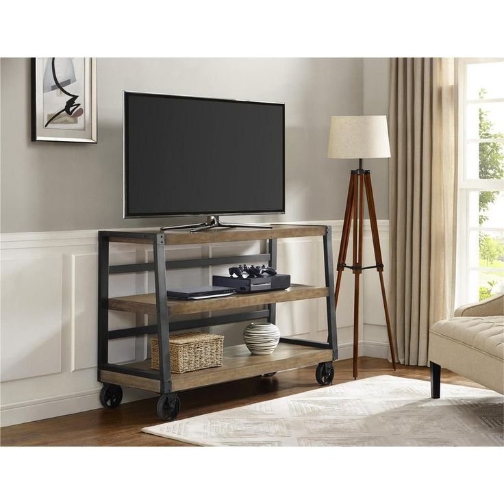 Great Preferred Dark TV Stands Regarding Tv Stands Awesome Trolley Tv Stand 2017 Design Trolley Tv Stand (Image 23 of 50)