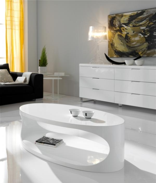 Great Preferred Oval Gloss Coffee Tables In Modern Coffee Tables With Storage Contemporary Furniture (View 27 of 40)
