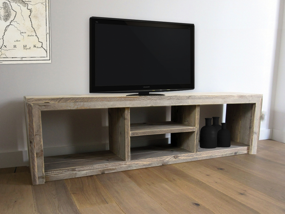 Great Preferred Pine Wood TV Stands For Tv Stands Reclaimed Look Solid Furniture (Image 20 of 50)