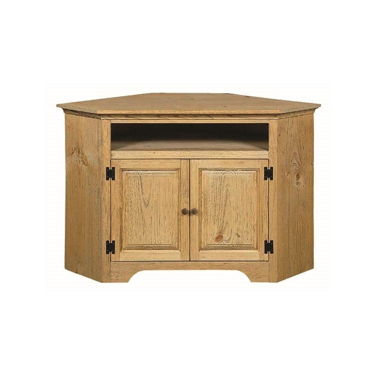 Great Preferred Small Corner TV Stands With Regard To Pine Small Corner Tv Stand With Opening Amish Pine Small Corner (View 11 of 50)