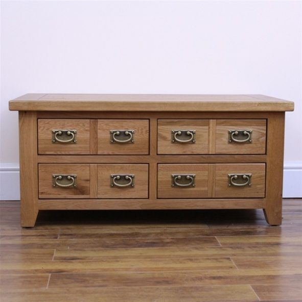 Featured Image of Solid Oak Coffee Table With Storage