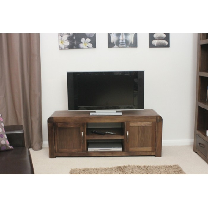 Great Preferred Widescreen TV Cabinets With Walnut Tv Unit Dark Wood Tv Dvd Storage Cabinets With Free Uk (View 48 of 50)