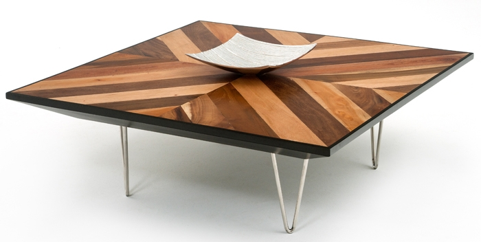 Great Preferred Wood Modern Coffee Tables Regarding Round Contemporary Wood Dining Table Made Reclaimed Woods (Image 21 of 50)
