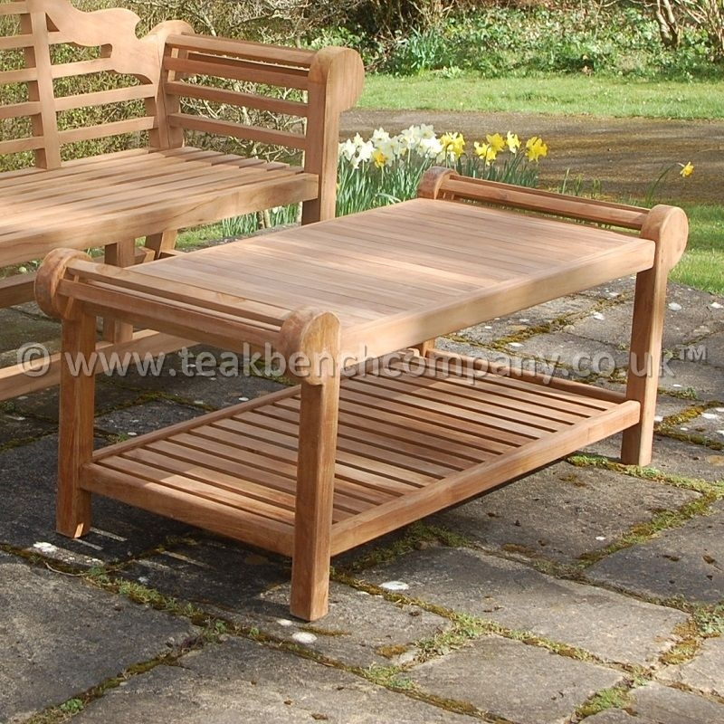 Great Preferred Wooden Garden Coffee Tables With Regard To Teak Garden Coffee Table (Image 24 of 50)