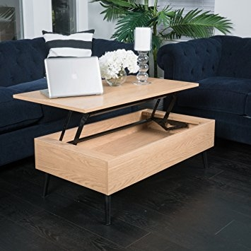 Great Preferred Wooden Storage Coffee Tables Intended For Amazon Caleb Brown Wood Lift Top Storage Coffee Table (View 15 of 50)