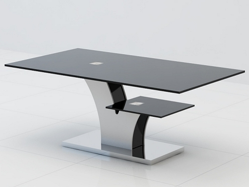 Great Premium Black Glass Coffee Tables In Coffee Table Black Glass Coffee Table With Black Legs Modern (Image 28 of 50)