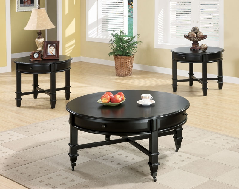 Great Premium Black Oval Coffee Tables With Regard To Black Oval Coffee Table Sets And End Tables Eva Furniture (View 25 of 40)