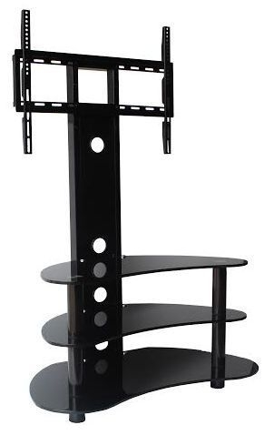 Great Premium Cantilever TV Stands Inside Black Tv Stand And Black Glass Tv Stand 32 55 Tvs Goldline (Image 16 of 50)