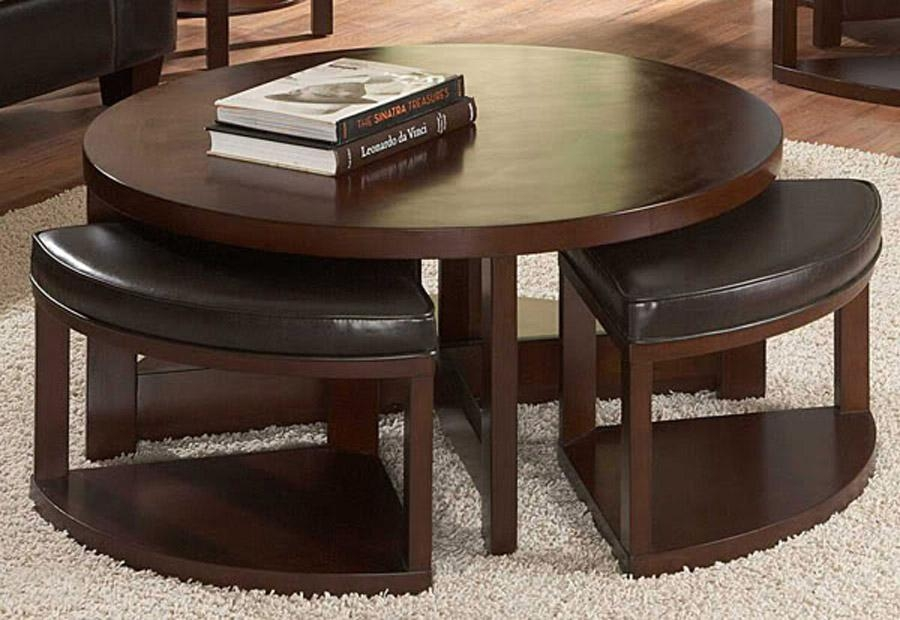 Great Premium Dark Wood Coffee Table Storages Pertaining To Furniture Accessories Elegant Round Dark Brown Glass Top Wooden (View 39 of 50)