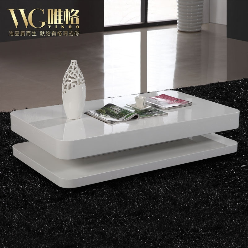 Great Premium Lacquer Coffee Tables Pertaining To Online Shop Vega Modern Minimalist Fashion White Piano Lacquer (Image 21 of 40)