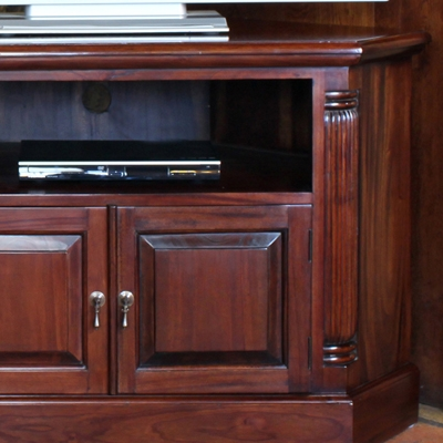 Great Premium Mahogany Corner TV Cabinets Inside La Roque Solid Mahogany Corner Tv Unit Robson Furniture (Image 24 of 50)