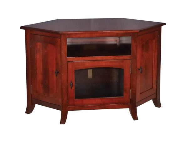 Great Premium Maple Wood TV Stands With Young Mission 35 Corner Or Wall Tv Stand Ohio Hardword (View 33 of 50)