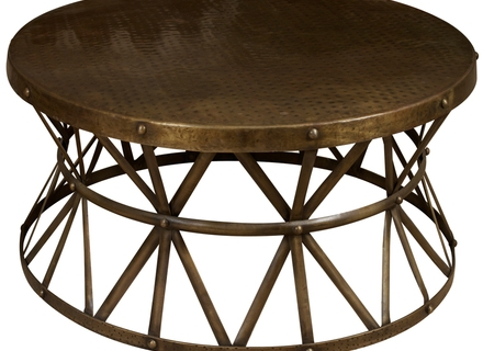 Great Premium Metal Coffee Tables Throughout Round Metal And Glass Coffee Tables Jerichomafjarproject (Image 26 of 50)