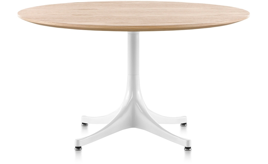 Great Premium Nelson Coffee Tables Throughout Nelson Pedestal Table Hivemodern (Image 19 of 50)