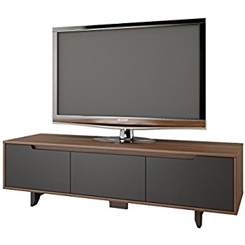 Great Premium Nexera TV Stands Regarding Amazon Nexera 107042 Alibi Tv Stand Walnut And Charcoal (View 26 of 50)