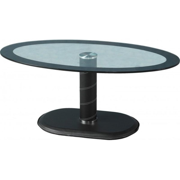 Great Premium Oval Black Glass Coffee Tables Regarding Cheap Seconique Cameo Oval Black Clear Glass Coffee Table For Sale (Image 24 of 50)