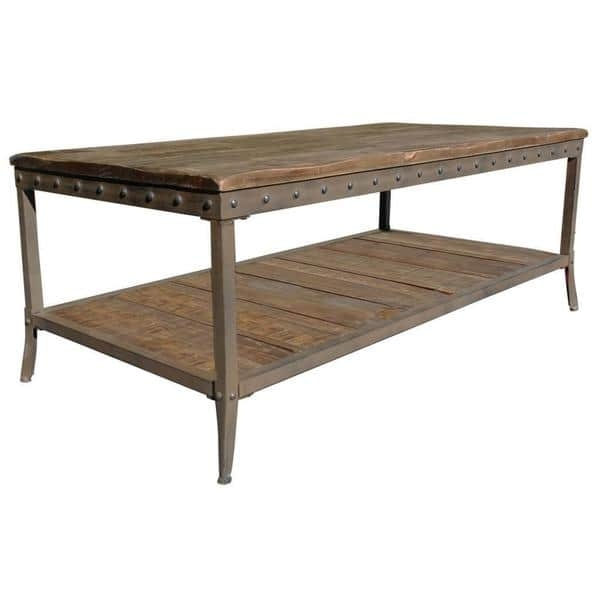Great Premium Pine Coffee Tables Intended For Trenton Distressed Pine Coffee Table Free Shipping Today (View 22 of 50)
