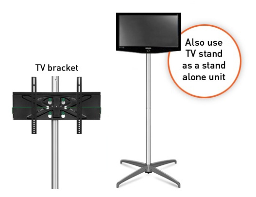 Great Premium Stands Alone TV Stands Intended For Curved 3 X 2 Tv Monitor Popup Display Stand (Image 26 of 50)