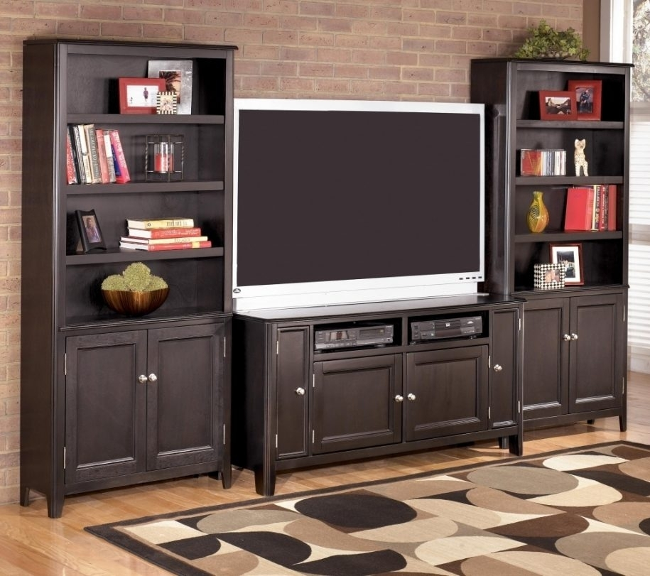 Great Premium TV Stands With Matching Bookcases Regarding Remarkable Tv Stand Bookcase Combo Verambelles With Regard To (View 33 of 50)