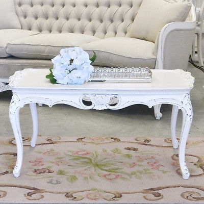 Great Premium White Cottage Style Coffee Tables Throughout Shab Cottage Chic White Coffee Table Vintage French Style (Image 28 of 50)