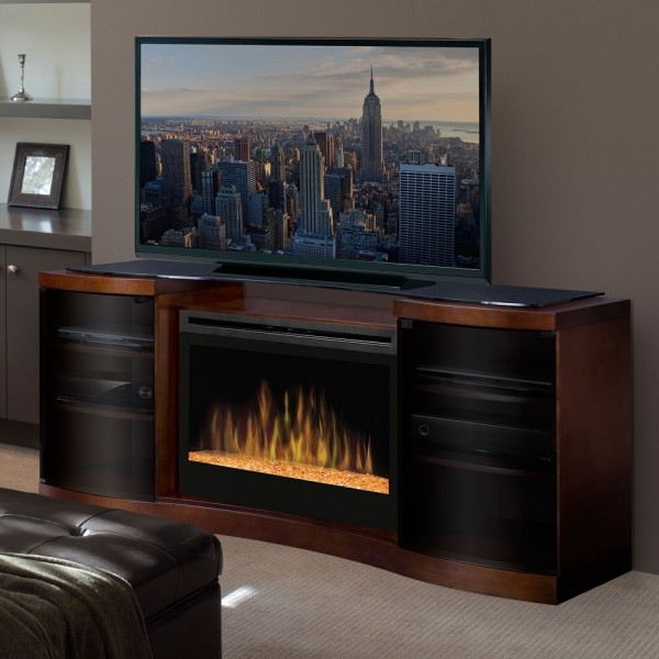 Great Premium Wood TV Stands With Glass Top Inside Tv Stands Outstanding Fireplace Tv Stands Big Lots 2017 Design (Image 21 of 50)