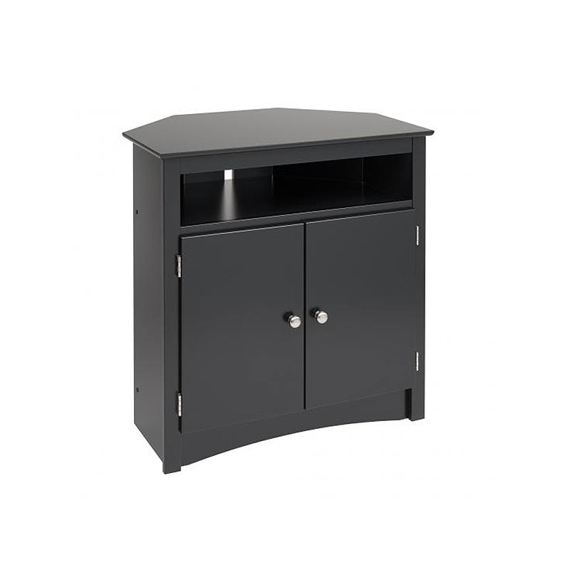 Great Series Of 32 Inch Corner TV Stands Pertaining To Prepac Sonoma Collection Tall Corner Tv Cabinet For Screens Up To (Image 23 of 50)
