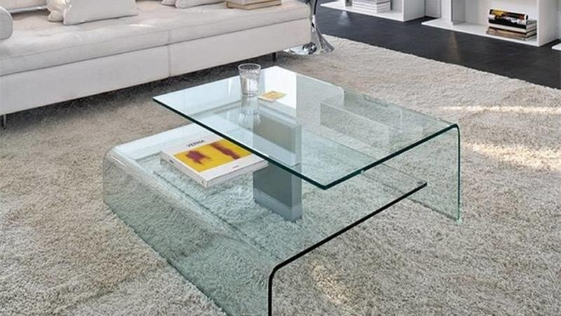 Great Series Of All Glass Coffee Tables Within 15 Contemporary Glass Coffee Table Designs Rilane (Image 22 of 50)