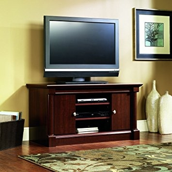 Great Series Of Cherry TV Stands In Amazon Sauder Palladia Panel Tv Stand Select Cherry Finish (Image 25 of 50)