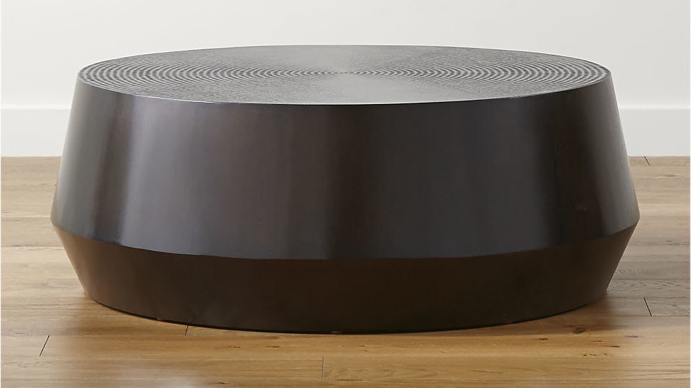 Great Series Of Circular Coffee Tables In Udan Round Coffee Table Crate And Barrel (View 17 of 40)
