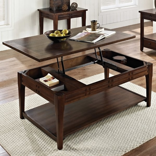 Great Series Of Coffee Tables Extendable Top Regarding Lift Top Coffee Tables Wayfair (Image 20 of 50)