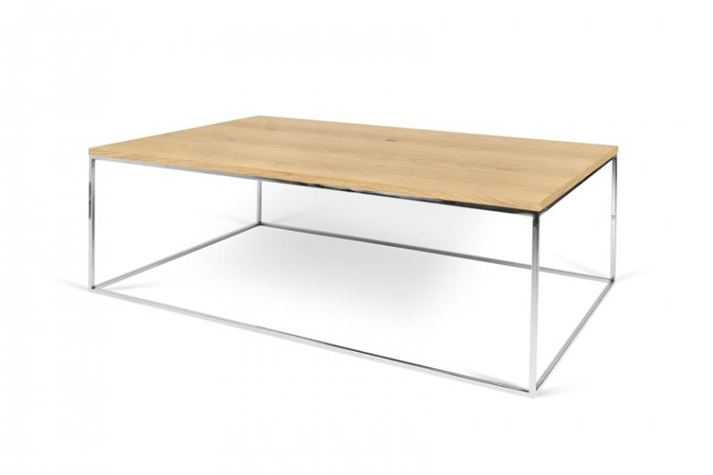 Great Series Of Coffee Tables With Chrome Legs Pertaining To Temahome Gleam 120 Modern Coffee Table With A Wild Oak Top Black (Image 23 of 50)