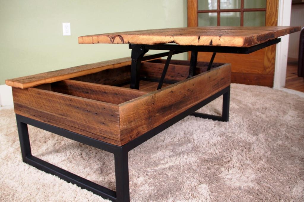 Great Series Of Elevating Coffee Tables Throughout Diy Lift Top Coffee Table Idi Design (Image 23 of 50)