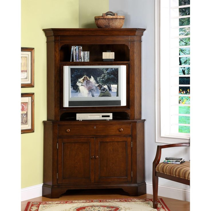Great Series Of Flat Screen TV Stands Corner Units Intended For Best 25 Corner Tv Cabinets Ideas Only On Pinterest Corner Tv (Image 25 of 50)