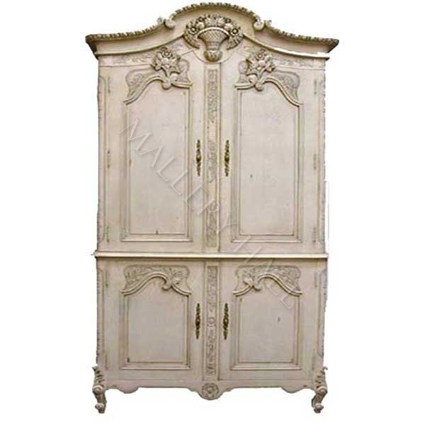 Great Series Of French TV Cabinets Throughout French Carved Linen Storage Armoire Tv Cabinet (Image 22 of 50)