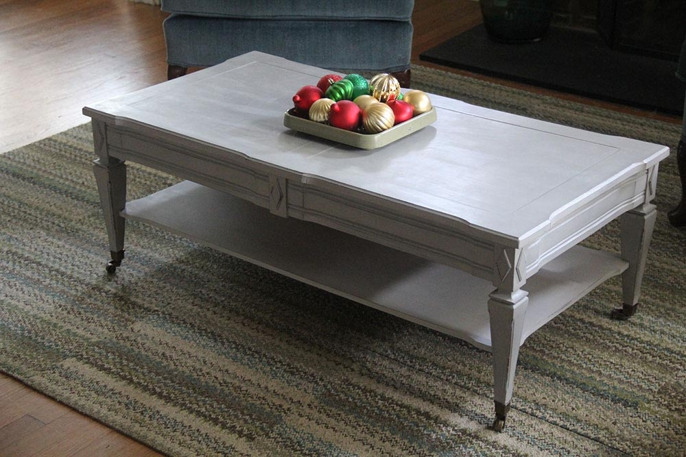 Great Series Of Grey Coffee Tables Pertaining To Grey Painted Coffee Table Coffee Table Design Ideas (View 4 of 50)
