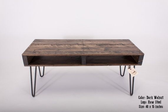 Great Series Of Hairpin Leg TV Stands Regarding Reclaimed Pallet Wood Tv Stand Media Stand With Hairpin Legs (Image 22 of 50)