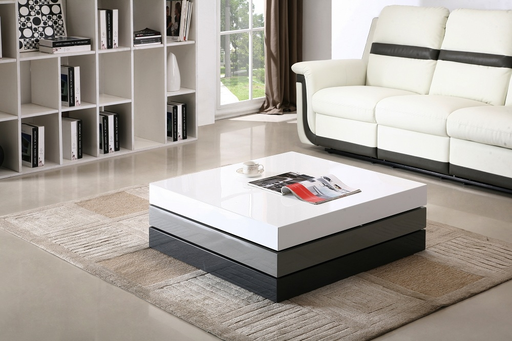 Great Series Of Madison Coffee Tables For Madison White Grey Black 360 Degrees Motion Storage Coffee Table (Image 19 of 40)