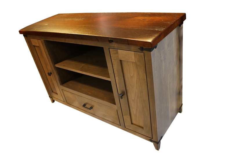 Great Series Of Maple Wood TV Stands With Frontier Tv Stand Ohio Hardwood Furniture (View 9 of 50)